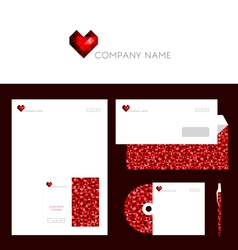 Design of corporate identity templates vector image