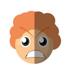 Emoticon angry cartoon design vector