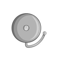 Fire alarm icon black monochrome style vector