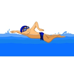 Freestyle swimmer cartoon vector