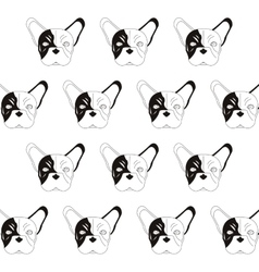 French bulldog pattern icon vector