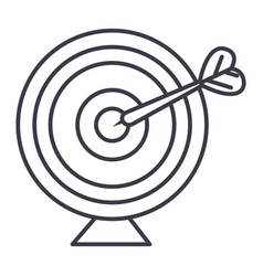 goal target with arrow line icon sign vector image vector image