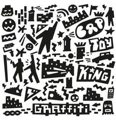 graffiti spray paint doodles vector image vector image