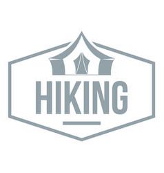 hiking emblem ogo vintage style vector image vector image