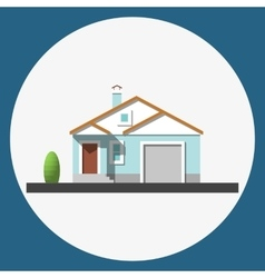 home building flat icon vector image vector image