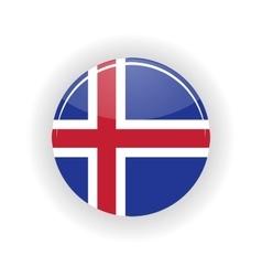 Iceland icon circle vector
