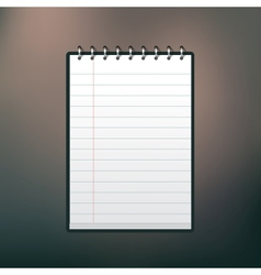 Notbook vector image
