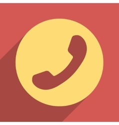 Phone number flat longshadow square icon vector