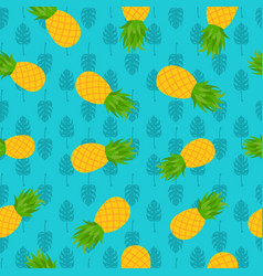 pineapple tropical seamless pattern for summer vector image vector image