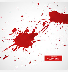 red ink splatter texture stain background vector image