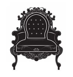 Rich baroque armchair vector