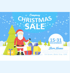 Sale holiday website banner templates christmas vector