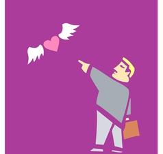 Sending Love Away vector image vector image
