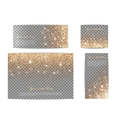 Set of banners of different size vector image vector image