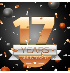 Seventeen years anniversary celebration background vector image