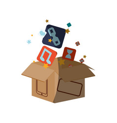 smartphone box packaging vector image