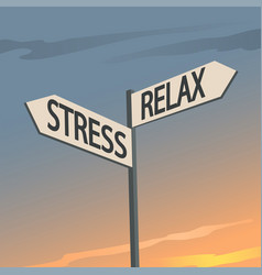 Stress and relax indication sign vector