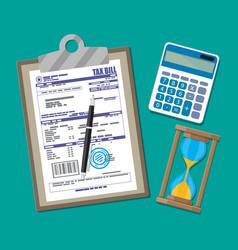 Tax declaration paper document vector