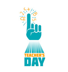 Teachers day art vector