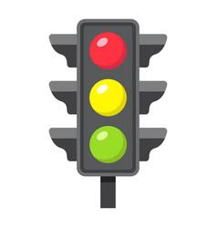 traffic light flat icon stoplight and navigation vector image
