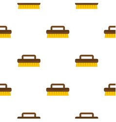 Wooden scrub brush pattern seamless vector