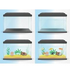 Transparent aquarium 05 vector