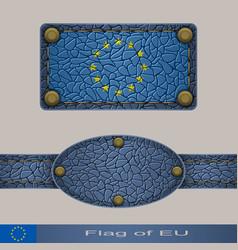 flag of eu vector image