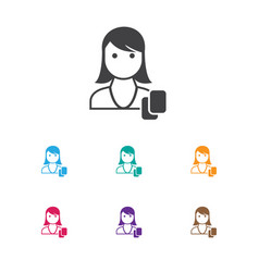 of business symbol on female vector image