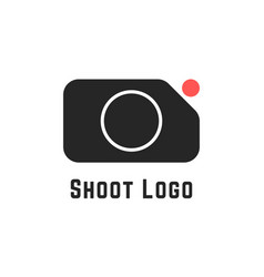 Shoot logo with simple camera sign vector