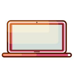 Laptop computer gradient icon vector