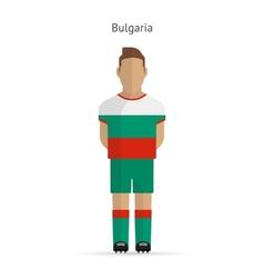 Bulgaria football player soccer uniform vector
