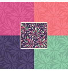 Set of floral seamless decorative patterns vector