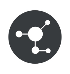 Monochrome round molecule icon vector