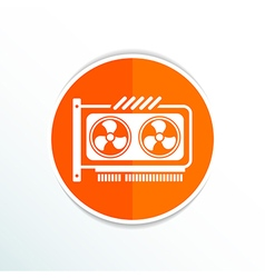 Gpu or computer graphic card icon component vector