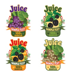Labels of juice from grapes and blackberry vector