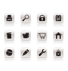 Internet and computer icons vector
