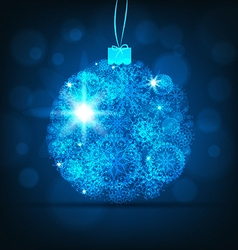 Blue bauble christmas background vector