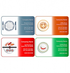 Restaurant business cards vector