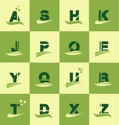 Alphabet logo icon set letter vector