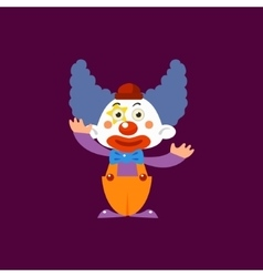 Clown greeting simplified isolated vector