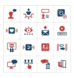 Set color icons of social network vector image