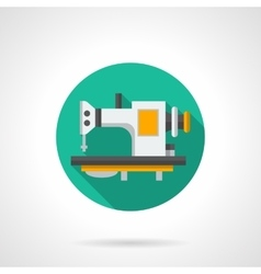 Sewing machines store round flat icon vector