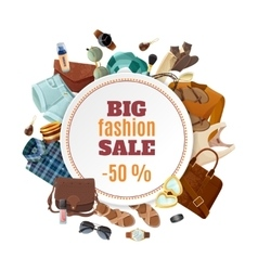 Fashion sale poster vector