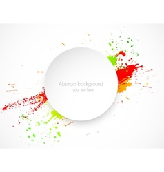 Abstract grunge background with paper label vector image vector image