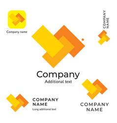 Abstract rectangles logo design modern clean vector