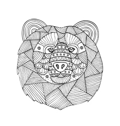 Adult coloring book page design vector image