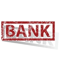 Bank outlined stamp vector