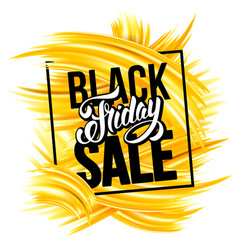 black friday sale advertise design vector image vector image