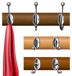 Coat rack set vector image vector image