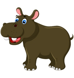 cute hippo cartoon for you design vector image